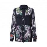 Afbeelding van Desigual blouse met allover print zwart