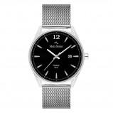 Afbeelding van Mats Meier Castor heren horloge zwart/zilverkleurig mesh