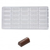 Afbeelding van Bonbonvorm Chocolate World Buche lijntje (25) 39x17,6x15,5mm