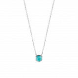 Image of TI SENTO Milano Necklace Turquoise Silver Plated 3845TQ