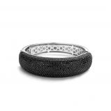Image of TI SENTO Milano Bracelet Black Silver With Black Plating 2768BB