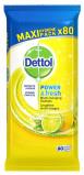 Afbeelding van Dettol Power & Fresh Multi Reinigingsdoekjes Citrus 80ST