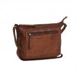 Imagem de Chesterfield Leather Shoulder Bag Cognac Black Label Cali