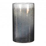 Afbeelding van Casa Vivante elice vaas glas donkergrijs maat in cm: 25 x 15,5