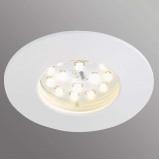 Afbeelding van Briloner witte LED inbouwlamp Till voor buitenshuis, kunststof, 5 W, energie efficiëntie: A+, H: 2.8 cm