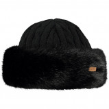 Afbeelding van Barts Fur Cable Bandhat Muts Dames Black Polyacryl,Wol