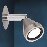 Afbeelding van Busch kleine led wandspot MINI warmwit, voor woon / eetkamer, metaal, 2.5 W, energie efficiëntie: A+