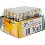 Afbeelding van Ansmann alkaline batterij x power micro aaa 30 stuks display