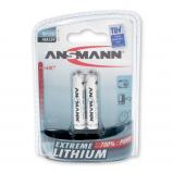 Afbeelding van Ansmann extreeme lithium micro aaa fr03 1 5v 2 stuks blister