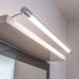Afbeelding van Aantrekkelijke LED spiegellamp Martha, Lampenwelt.com, voor badkamer, acryl, aluminium, 9 W, energie efficiëntie: A+, B: 100 cm, H: 9 cm