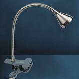 Afbeelding van Busch functionele LED klemlamp MINI warm wit, voor woon / eetkamer, metaal, 2.5 W, energie efficiëntie: A+