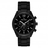 Afbeelding van Mats Meier Grand Cornier chronograaf heren horloge mat zwart staal