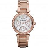 Afbeelding van Michael Kors Jet Set Parker Mini MK5616 dameshorloge horloge Parelmoer