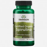 Image of 100% Certified Organic Spirulina 500 mg by Swanson Health 180 tablets