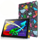 Afbeelding van 3 Vouw abstract patroon stand flip hoes Lenovo Tab 2 A10 30