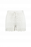 Afbeelding van FSTVL by MS Mode Dames Kanten short Wit