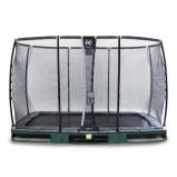 Bilde av EXIT Elegant bakketrampoline 244x427cm med Deluxe sikkerhetsnett grønn