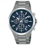 Afbeelding van Pulsar PM3109X1 Titanium horloge herenhorloge Zilverkleur