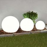 Afbeelding van 3 delige set LED solarlampen Lago, bollen, Lampenwelt.com, kunststof, 0.4 W, energie efficiëntie: A+, H: 51 cm