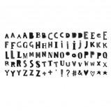 Afbeelding van A Little Lovely Company lightbox letter set: funky black
