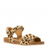 Afbeelding van Clic leren sandalen met panterprint