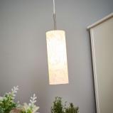 Afbeelding van EGLO amanda kunstzinnige hanglamp 1 lichts, voor woon / eetkamer, metaal, glas, E27, 60 W, energie efficiëntie: A++