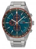 Afbeelding van Seiko SSC717P1 Solar Chrono horloge herenhorloge Blauw,Groen,Rood,Zilverkleur