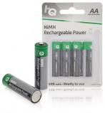 """Bild av """"Batteri Uppladdningsbara AA 2700mAh + Box 4 st"""""""