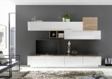 Afbeelding van Benvenuto Design Bex TV wandmeubel 16 Wit / Eiken