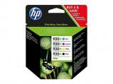 Afbeelding van HP 920XL (C2N92AE) Inktcartridge 4 kleuren Voordeelbundel XL (origineel)