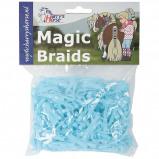 Afbeelding van Harry's Horse Magic Braids elastiekjes (Kleur: blauw)