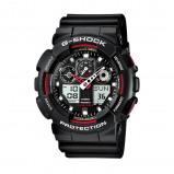 Afbeelding van Casio G Shock GA 100 1A4ER Classic horloge herenhorloge Rood,Zwart