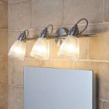Afbeelding van 3 lamps badkamer plafondlamp Kara met G9 LED, Lampenwelt.com, voor badkamer, glas, metaal, G9, 2.5 W, energie efficiëntie: A++, L: 51.5 cm, H: 17 cm