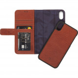 Afbeelding van Decoded 2 in 1 Leather Wallet Apple iPhone Xs Max Book Case Bruin