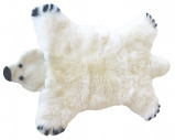 Image of Baby Dan Bear Lambskin 60x97 cm Polar Bear