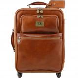 Bilde av 4 Wheels vertical leather trolley Honey