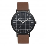 Afbeelding van Christian Paul Bridport Grid 43 MM Black / Brown horloge