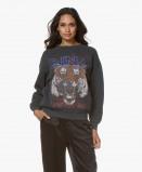Image of Anine Bing Tiger Sweatshirt Washed Black