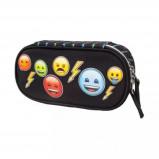 Afbeelding van Emoji Bolt ovale etui zwart 21 x 5 10 cm