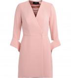 Kép: Abito a portafoglio Elisabetta Franchi color rosa antico con cintura