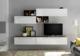 Afbeelding van Benvenuto Design Bex TV wandmeubel 14 Wit / Walnoot