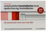 Afbeelding van Apotex Acetyl Cysteine 600mgapotex Av (20brt)