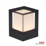 Afbeelding van AEG vierkante LED sokkellamp, aluminium, kunststof, 7.6 W, energie efficiëntie: A+, L: 16 cm, B: H: 21 cm