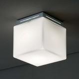 Afbeelding van Ailati plafondlamp Cubis, chroom, voor woon / eetkamer, glas, metaal, E27, 60 W, energie efficiëntie: A++, L: 16 cm, H: cm
