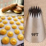 Εικόνα του #9FT Large Icing Piping Nozzles Russian Nozzles Pastry Tips Cookies Cake Decorating Tools Tips Cream Fondant Pastry Nozzles