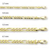 Afbeelding van 14 karaat goud figaro kettingen 4004022