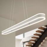 Afbeelding van Helestra helestra Liv langwerpige LED hanglamp, dimbaar, voor woon / eetkamer, metaal, acryl, 40 W, energie efficiëntie: A+, L: 110 cm, B: 10 cm, H: 5 cm