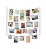 Afbeelding van Umbra foto display met 40 knijpers Hangit hout Wit