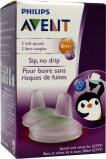 Afbeelding van Avent Vervangingstuit pinguin beker roze/blauw 6 maand+ 1 stuk
