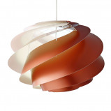 Afbeelding van LE KLINT le Swirl 1 koperkleurige hanglamp, voor woon / eetkamer, kunststof, E27, 7 W, energie efficiëntie: A++, H: 33 cm